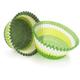 Green Swirl Bake Cups, Set of 40