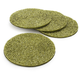 Green Beaded Coasters, Set of Four, 4
