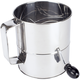 Stainless Steel 8-Cup Crank-Handle Sifter