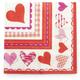 Meri Meri Valentine Hearts Paper Napkins, Set of 16