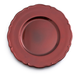 Red Metallic-Colored Baroque Charger, 13
