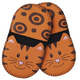 Orange Cat Mini Grip Potholders, Set of 2