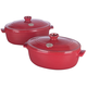 Emile Henry® Red Flame Top Oval Stewpots