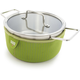 Kuhn Rikon Cook and Serve Pot with Green Neoprene Jacket