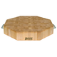 John Boos & Co.® Maple End-Grain Octagonal Chopping Block with Stainless Steel Handles, 18