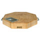 John Boos & Co.® Maple End-Grain Octagonal Chopping Block with Stainless Steel Handles and Inset Pan, 18