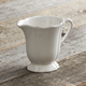 Baroque White Creamer, 4½