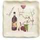 Firenze Italian Wine Appetizer Plate