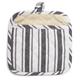 Black Muted-Stripe Potholder