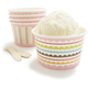 Pastel Ice Cream Bowls and Spoons, Set of 24
