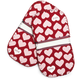 Heart Mini Grip Potholders, Set of 2