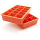 Tovolo Perfect Cube Ice Trays, Vermillion Orange