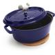 Staub® Oval Blue Coq au Vin with Magnetic Trivet, 4 qt.