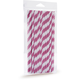 Hot-Pink Paper Straws
