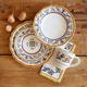 Deruta-Style 4-Piece Dinnerware Set