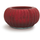 Red Glass Tea-Light Candle Holder, 3