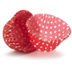 Red Polka Dot Bake Cups, Set of 40