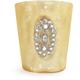 Gold Jeweled-Glass Votive Candle Holder, 3