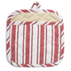 Red Muted-Stripe Potholder