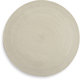 Ivory Round Woven Placemat