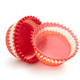 Mini Red Swirl Bake Cups, Set of 40