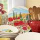 Tuscan Poppies Round Serving Platter