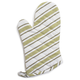 Green Muted-Striped Oven Mitt