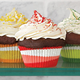 Red Swirl Bake Cups, Set of 40