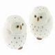 Kotobuki White Owl Salt & Pepper Shaker Set