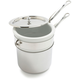 Mauviel M'Cook Stainless Double Boiler, 1.6 qt.