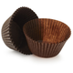 Solid-Brown Jumbo Bake Cups, Set of 20