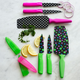 Kuhn Rikon Green Dot 3-Piece Knife Set