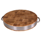 John Boos & Co.® Maple End-Grain Chopping Block with Stainless Steel Handles, 15