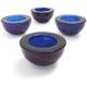 Blue Glass Tealight Candleholder