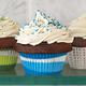 Blue Swirl Bake Cups, Set of 40