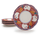 Hand-Painted Italian Plates with Pig Design
