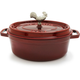 Staub® Oval Grenadine Coq au Vin with Magnetic Trivet
