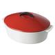 Revol® Revolution Red Oval Casserole, 4¾ qt.
