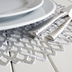 Chilewich Silver Pressed-Dahlia Placemat