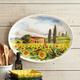 Tuscan Landscape Oval Serving Platter