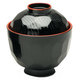 Kotobuki Black Miso Soup Bowl with Lid, 8 oz.