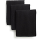 Black Microfiber Dishcloths, Set of Three