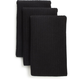 Black Microfiber Kitchen Towels, Set of Three