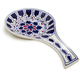 Blue Floral Ceramic Spoon Rest