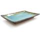 Kotobuki Turquoise Sky Glazed Sushi Plate