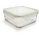Kinetic Go Green Square GlassLock Food Storage, 30 oz.