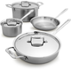 All-Clad® d5 Brushed Stainless Steel 7-Piece Set
