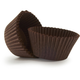 Solid-Brown Bake Cups, Set of 40