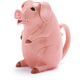 Pink Ceramic Pig Pitcher