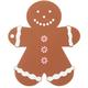 Silicone Gingerbread Man Potholder